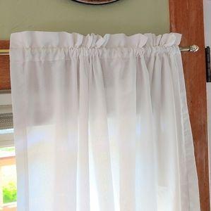 Set of 4 vintage cream curtains